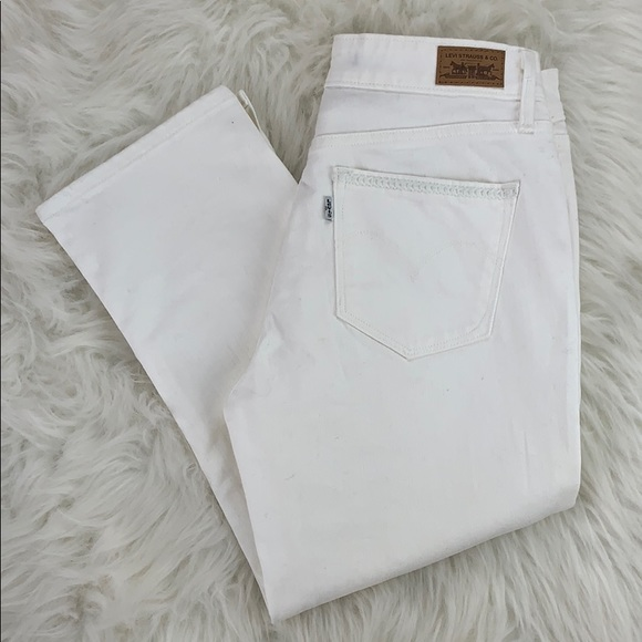 Levi's Denim - Levi's white cropped denim jeans